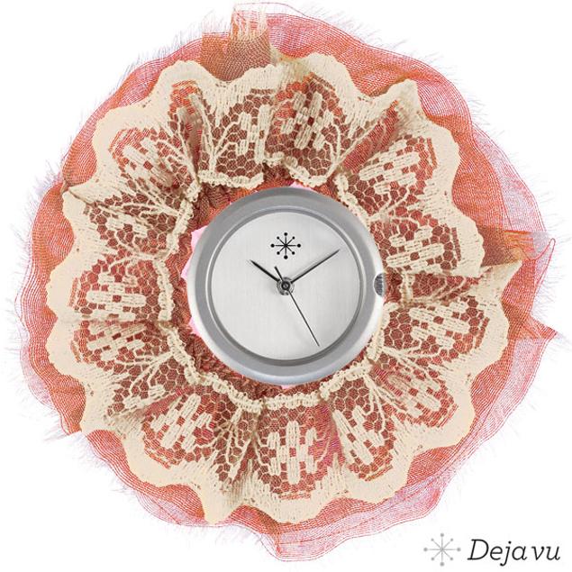 Afbeeldingen van Sierring van zalm roze stof