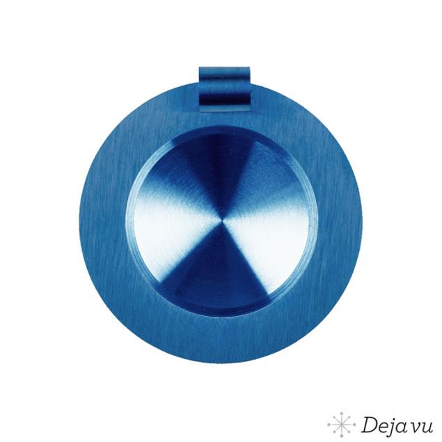 Afbeeldingen van Glanzend blauw staal
